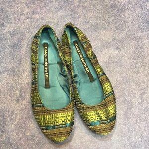 LIBBY. EDELMAN ~Antonia Textile Woven Ballet Flats